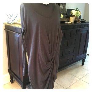 DNKY dark grey cotton dress.